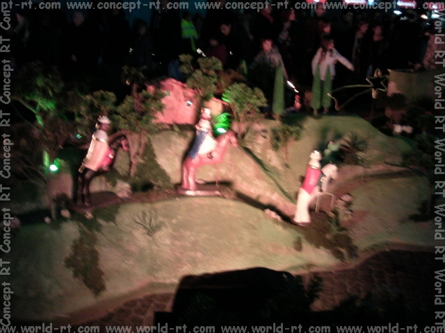 Nativity scene at sant jaume square