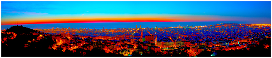 panorama picture of barcelona